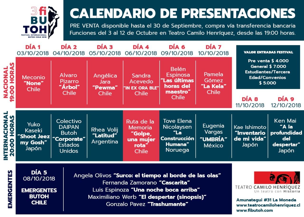 CalendarioPresentaciones
